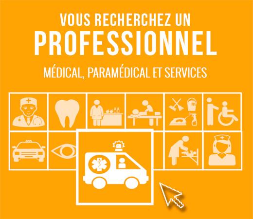 Je recherche un professionnel paramédical